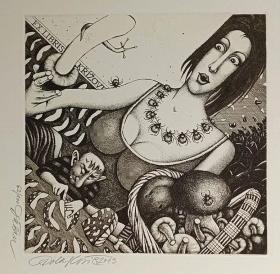 杜桑·波拉科维奇(Dusan Polakovic )版画藏书票原作6精品收藏