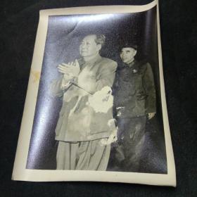 老照片。毛主席和他亲密战友林副主席。