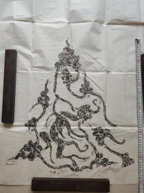 汉代画像艺术之杰作 羽兽飞升图 长60+52cm