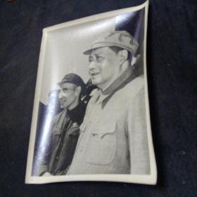 老照片。毛主席和林彪