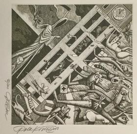 杜桑·波拉科维奇(Dusan Polakovic )版画藏书票原作7精品收藏