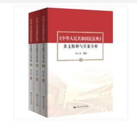 《中华人民共和国民法典》 条文精释与实案全析(上中下)