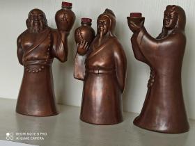 紫砂雕塑水浒人物酒瓶 (逼真、有趣)
