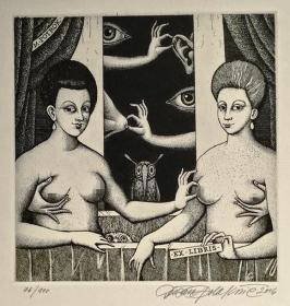 杜桑·波拉科维奇(Dusan Polakovic )版画藏书票原作10精品收藏