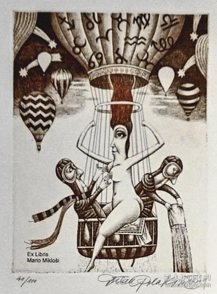 杜桑·波拉科维奇(Dusan Polakovic )版画藏书票原作14精品收藏