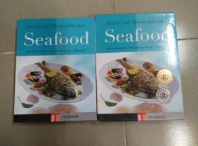 FISCH UND MEERESFRÜCHTE SEAFOOD 海鲜食谱 德文原版 图文并茂 有处理细节图 精装护封带盒套