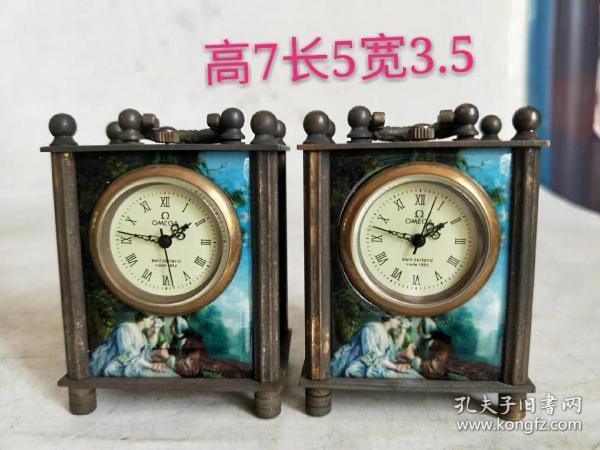 旧藏景泰蓝纯铜 小座钟