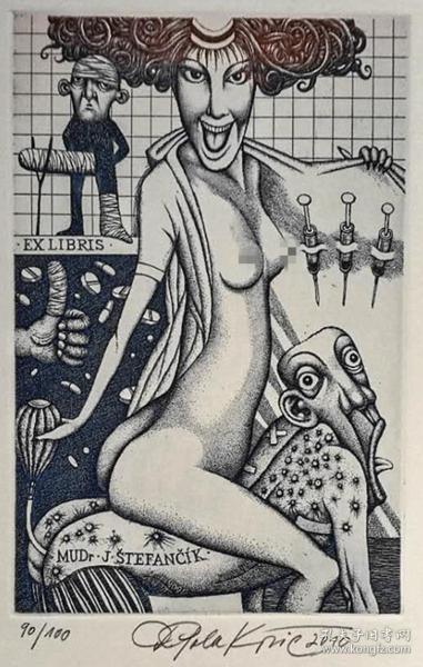 杜桑·波拉科维奇(Dusan Polakovic )版画藏书票原作13精品收藏