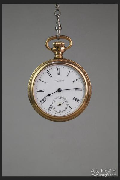 美国的古董钟表Waltham华生旅行者系列包金壳老怀表计时良好包邮