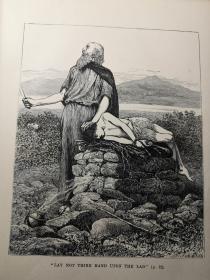 1881年精美签名   THE CHILDREN OF HOLY SCRIPTURE    含精美木刻整页插图