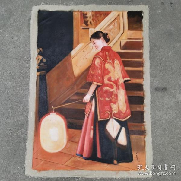 手绘油画朱毅勇之作品
