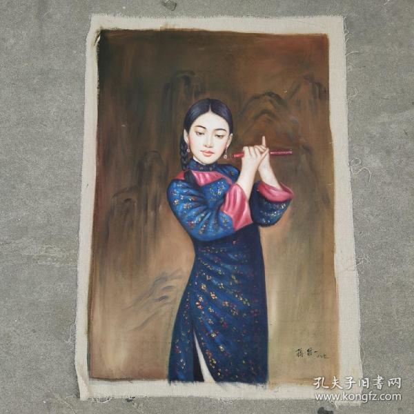 手绘油画蒋昌一之作品