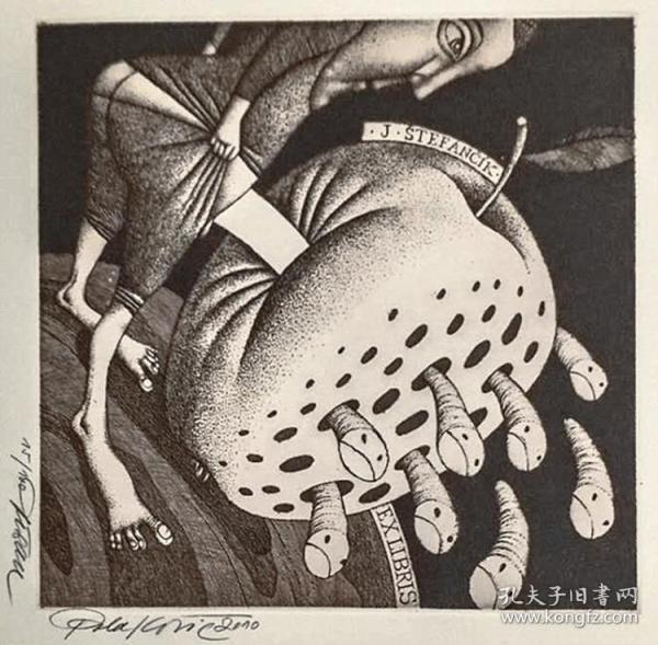 杜桑·波拉科维奇(Dusan Polakovic )版画藏书票原作11精品收藏