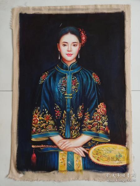 陈逸飞手绘油画仕女图