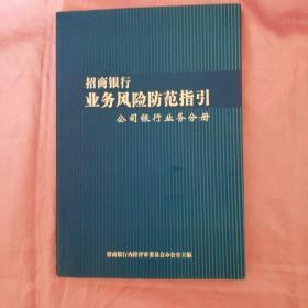 招商银行业务风险防范指引 公司银行业务手册