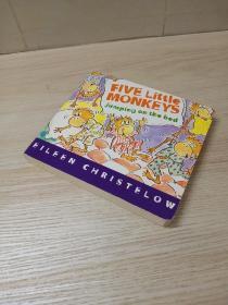 Five Little Monkeys Jumping on the Bed 五只小猴 英文原版有声绘本正版现货纸板书 4-6岁儿童少儿英语声律语感启蒙