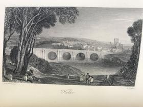 1882年大开本  The Poetical Works of Sir Walter Scott  含透纳、米勒精美钢板插图  全皮装帧 三面书口鎏金