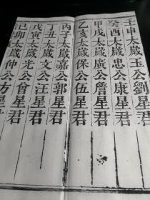 (拜太岁必读道教经书)民国2年(1913)四川木刻本《太上灵华至德岁君解厄延生法忏》(《岁君法忏》)1册全,经折装白纸佳墨原版后刷本。