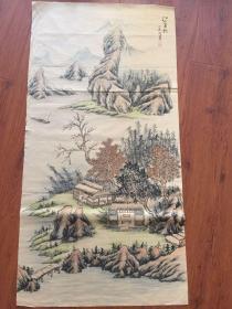 中美协会员-龙志军真迹 保真 保手绘 品相如图 边有裂口 有撕开的地方 不缺肉 介意慎拍