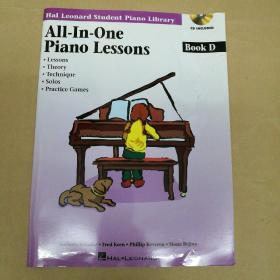 Hal Leonard All-in-One Piano Lessons Book D 哈尔·伦纳德钢琴全面训练基础教程D(附CD)