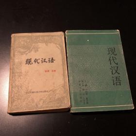 现代汉语 张斌 1988 现在汉语修订本 1991 丁恒顺 河南大学出版社 两册 合售