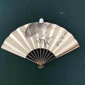 日本回流扇子 老扇骨16号(印刷)
