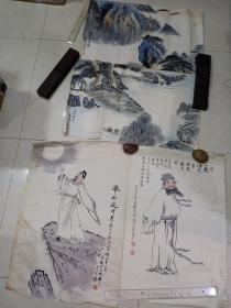 画  6幅合售(70 x 46)