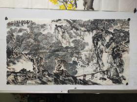 王梦湖   山水横幅  尺寸88x48