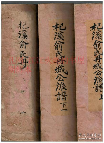 《杞溪俞氏丹城公派谱》