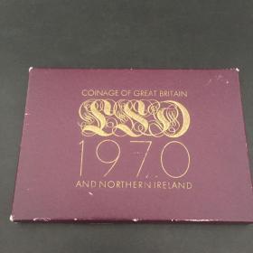英国 1970 全新 银币铜币 法定流通货币 全套装