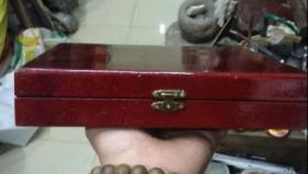 80年代,红金彩木胎漆盒