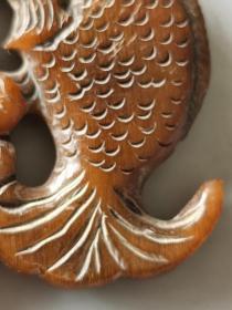 古董古玩杂项角雕牌子