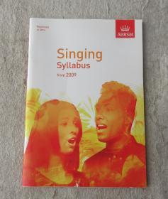 ABRSM -Singing Syllabus from 2009  Reprinted in 2014