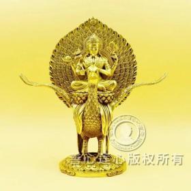 佛母大孔雀明王佛像,铜像 高26.5cm 包邮