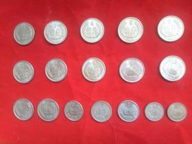 """硬币5角(2002年版荷花""""开口国""""1枚),5分(1988年15枚,1990年2枚),2分(1976年1枚,1983年1枚,1985年1枚,1987年1枚,1988年2枚),1分(1983年1枚,1987年3枚),共28枚合售【包邮】"""