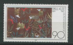 德国邮票 西德 1979年 瑞士画家克勒诞生100周年 1全新