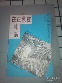 夜幕正在降临--都市夜生活纪实(新时期纪实文学丛书)