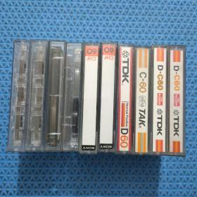磁带10本合售(录有内容)