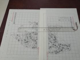莱州府掖县自治区域图甲乙2张【该地最早的按比例尺绘制的地图】