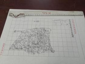 登州府黄县自治区域图1张【该地最早的按比例尺绘制的地图】