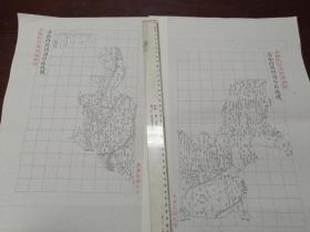 济南府德州自治区域图甲乙2张【该地最早的按比例尺绘制的地图】