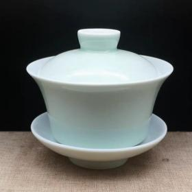 上海博物馆1962青白釉三才杯,茶杯