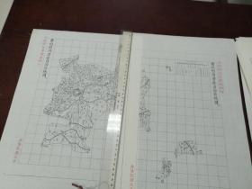 曹州府菏泽县自治区域图甲乙丙3张【该地最早的按比例尺绘制的地图】
