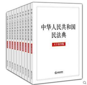 10本套装 中华人民共和国民法典 A5开本 大字条旨版