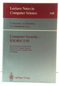 Computer Security - ESORICS 92: Second European Symposium on Research in Computer Security, Toulo...
