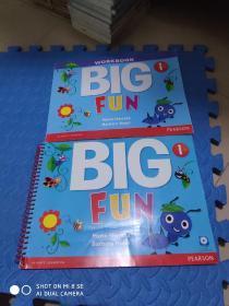 BIG FUN 1 + BIG FUN 1 WORKBOOK (一本书、一本练习册,都有CD盘)