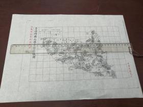 青州府博山县自治区域图1张【该地最早的按比例尺绘制的地图】