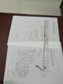 青州府乐安县(现东营广饶)自治区域图甲乙2张【该地最早的按比例尺绘制的地图】
