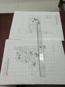 莱府潍县自治区域图甲乙2张【该地最早的按比例尺绘制的地图】