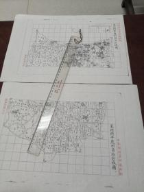 莱州府平度州自治区域图甲乙2张【该地最早的按比例尺绘制的地图】